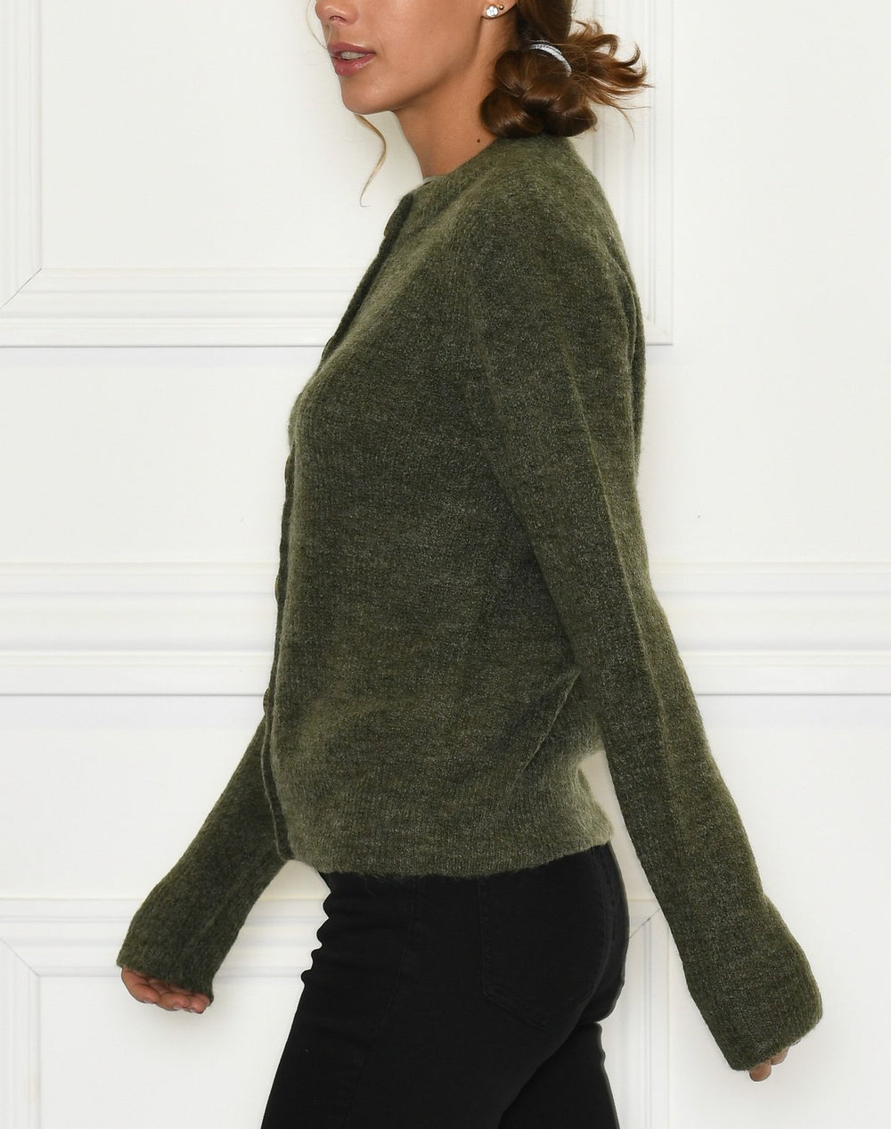 B. Young BYMartine cardigan 2 mel. olive night - Online-Mode