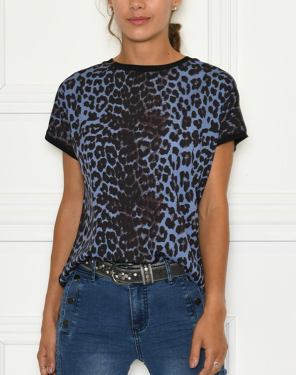 B. Young BYPanya leo t-shirt country blue mix - Online-Mode