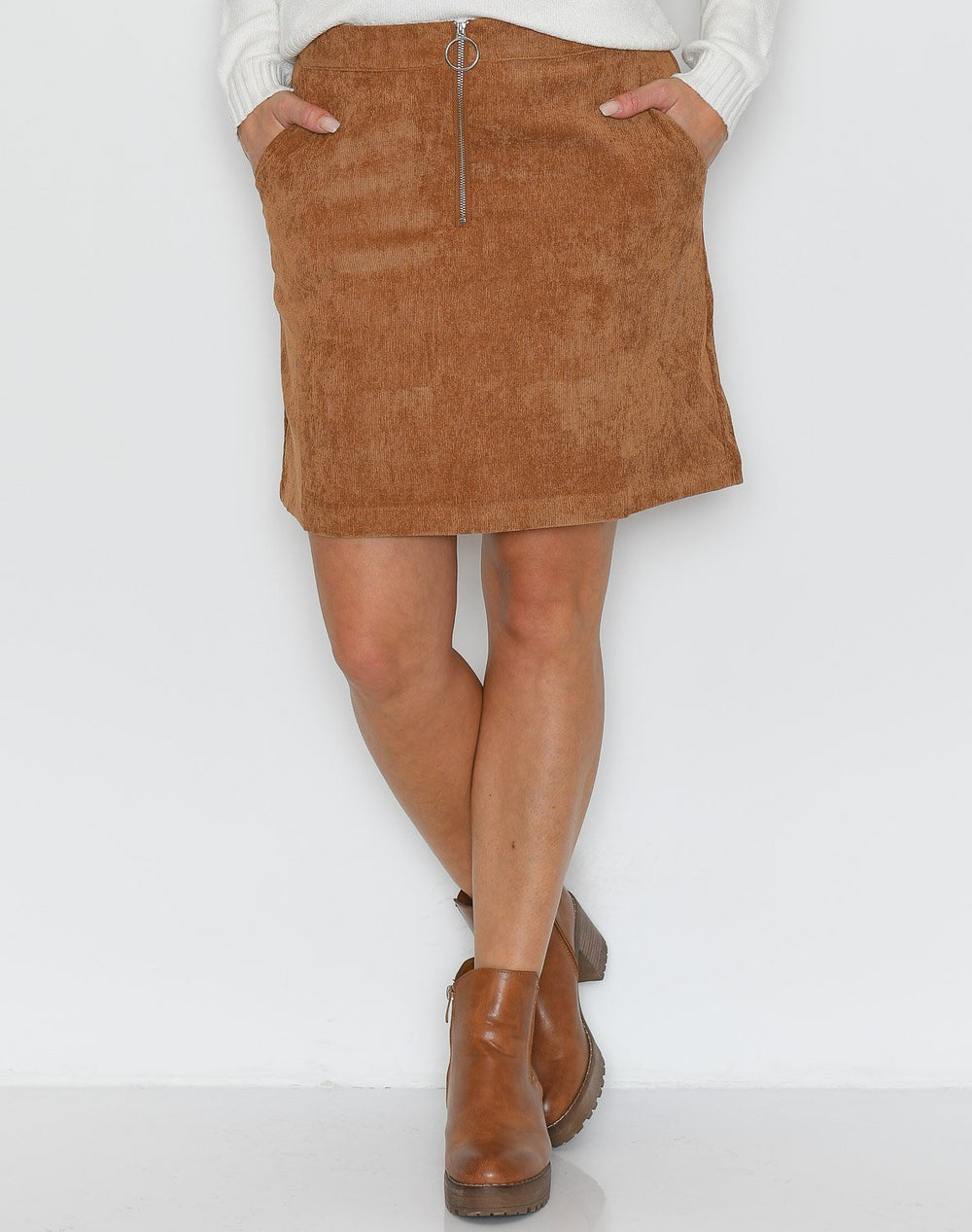 B.young BXElexia short skirt almond - Online-Mode