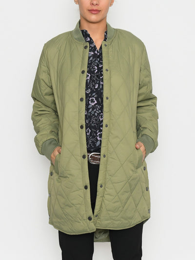 B.young BYcanna coat oil green - Online-Mode