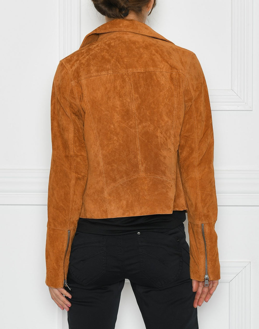 B.young BYcora biker jacket suede safari brown - Online-Mode