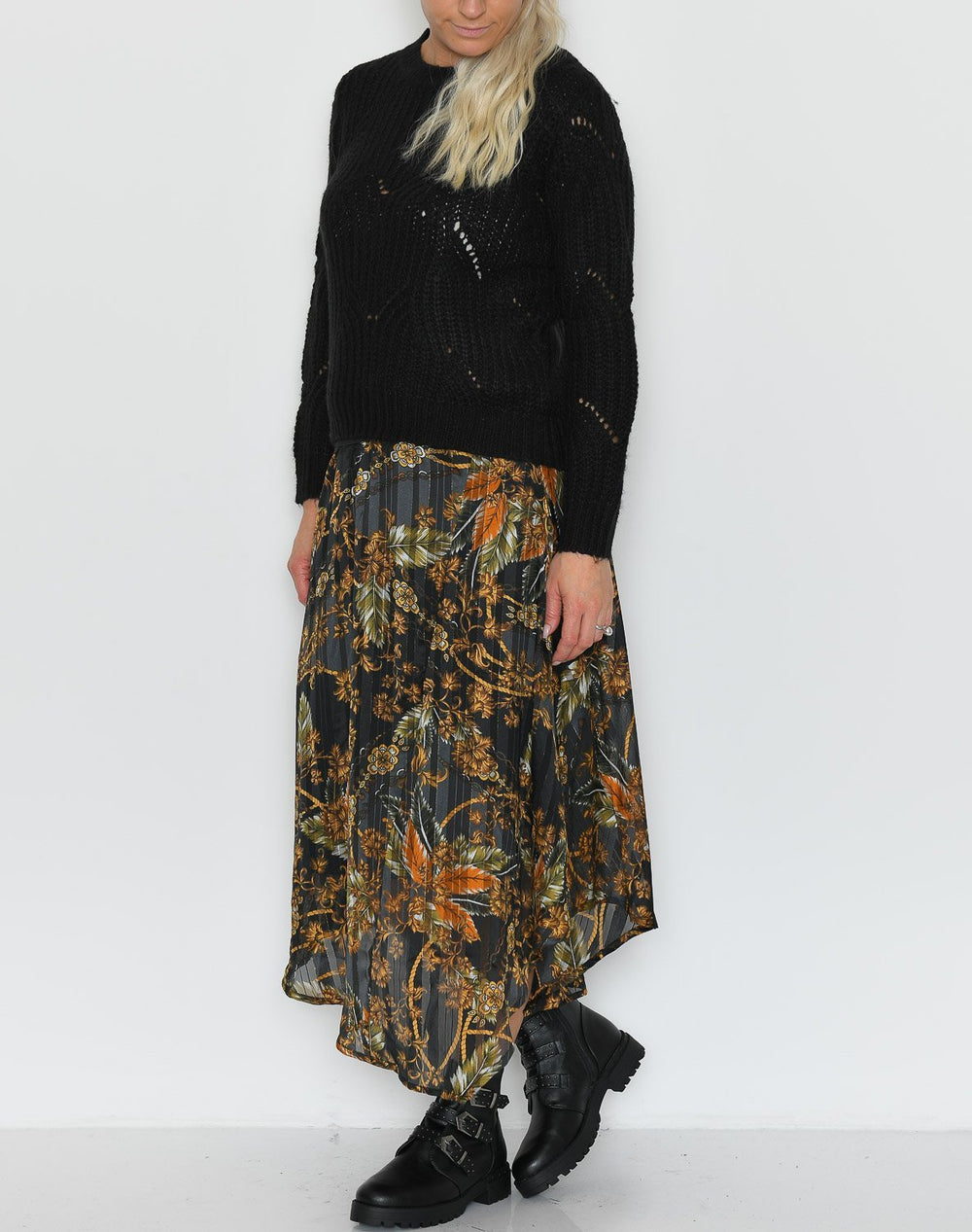 B.young BYFavour skirt peat green combi - Online-Mode