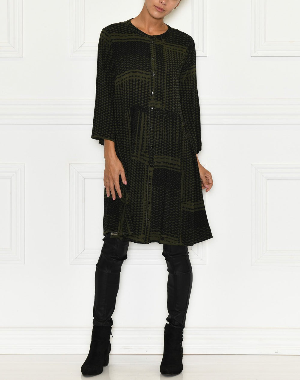 B.Young BYIlla dress olive night combi 4 - Online-Mode