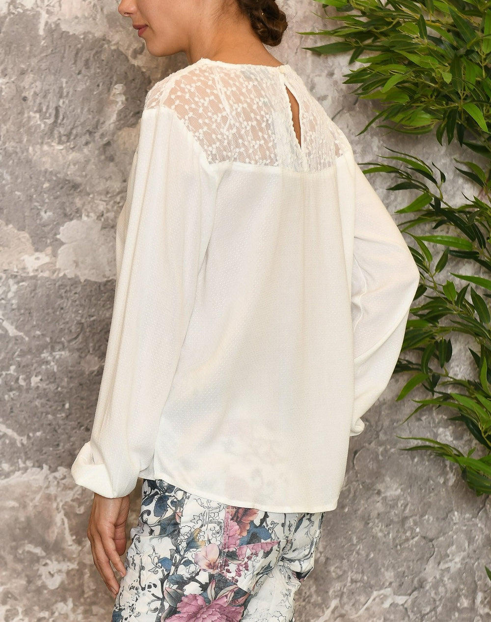 B.young BYivonne lace bluse off white - Online-Mode