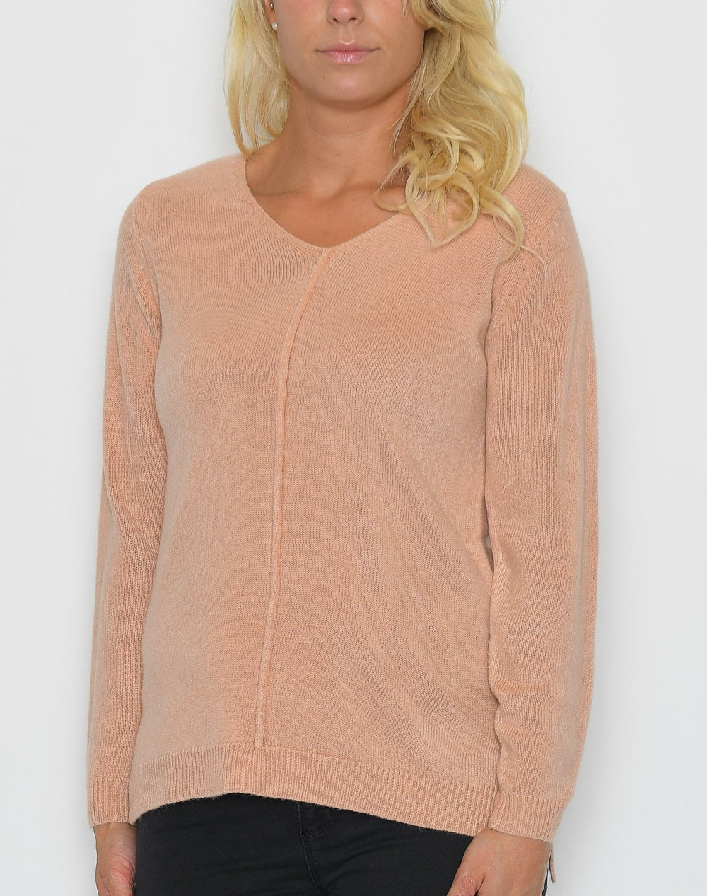 B.young BYMalea v neck jumper warm rose - Online-Mode
