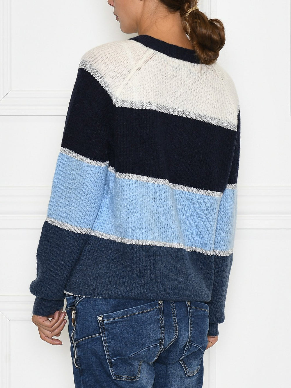 B.Young BYmayelo stripe cardigan 2 ensign blue combi - Online-Mode
