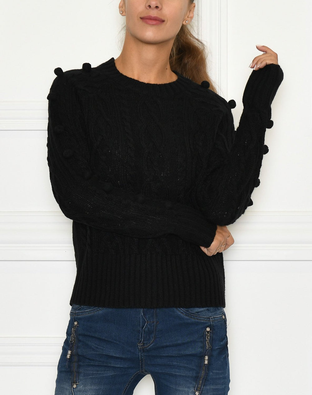 B.Young BYMelissa cabel pullover black - Online-Mode