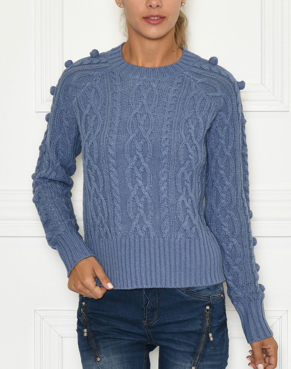 B.Young BYMelissa cabel pullover country blue - Online-Mode