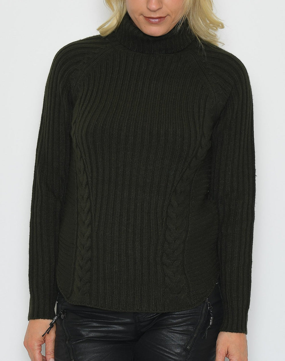 B.young BYnaja rollneck jumper peat green - Online-Mode