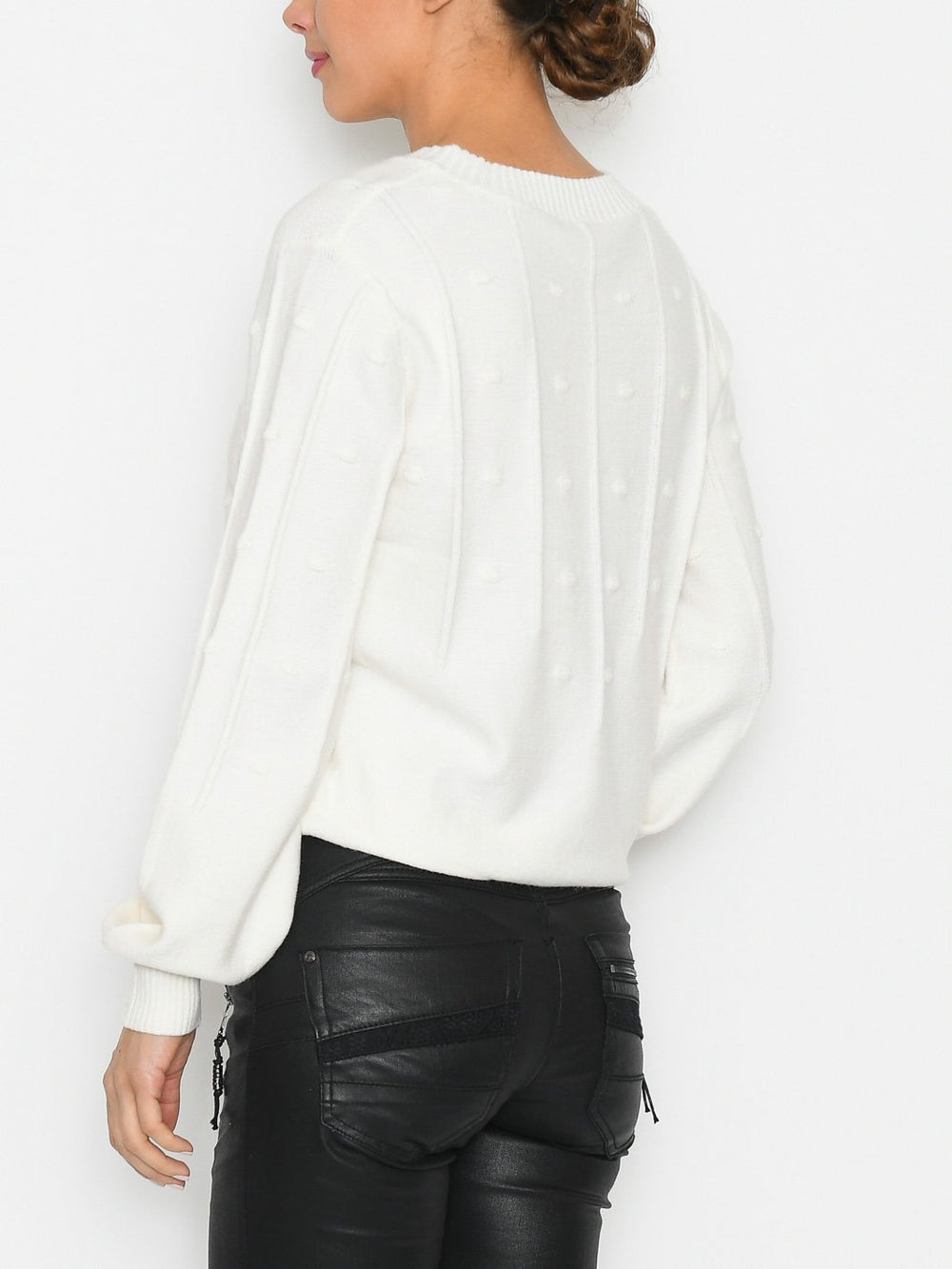B.Young BYnonina structure jumper off white - Online-Mode