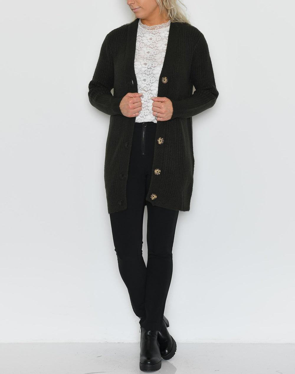 B.young BYNora cardigan peat green - Online-Mode