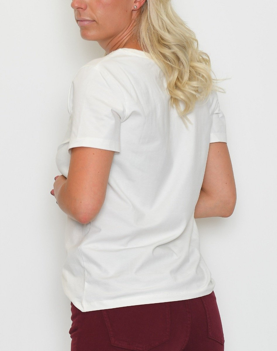 B.young BYPandina photo t-shirt off white - Online-Mode