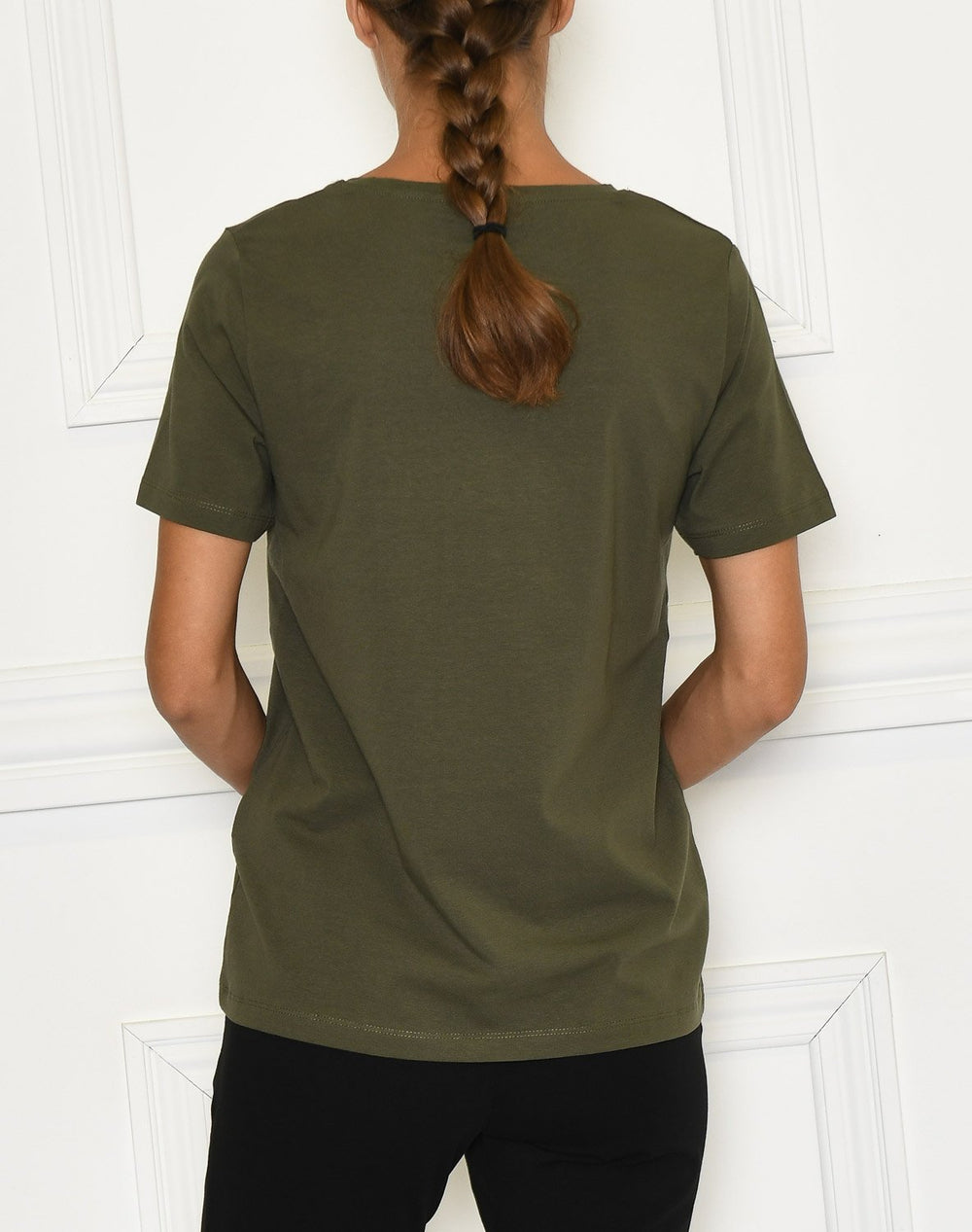 B.Young BYPANDINA t-shirt embroidery olive night - Online-Mode