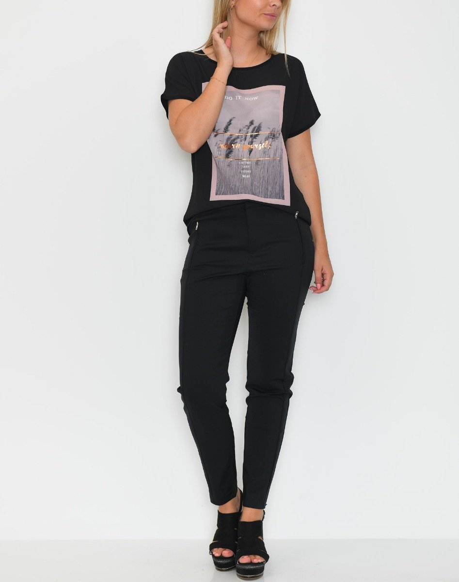 B.young BYPommina t-shirt black - Online-Mode