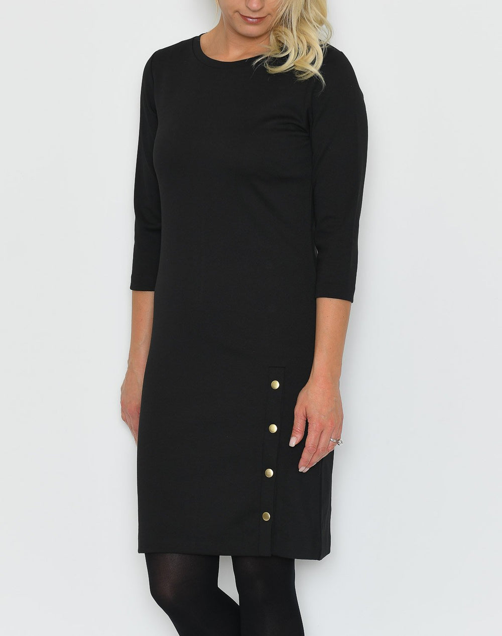 B.young BYRizetta button dress black - Online-Mode
