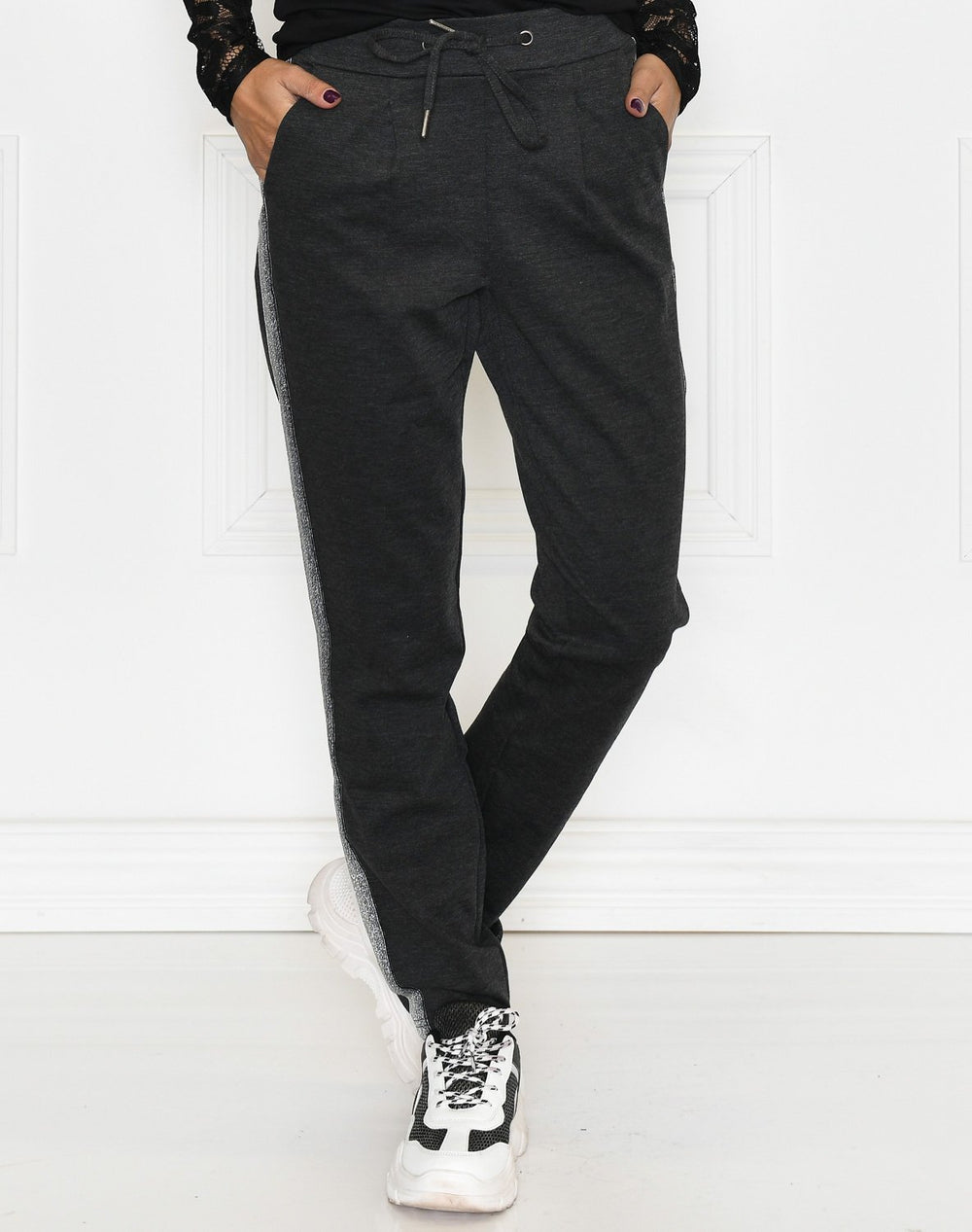 B.Young BYrizetta deco pants 2 dark grey melange - Online-Mode