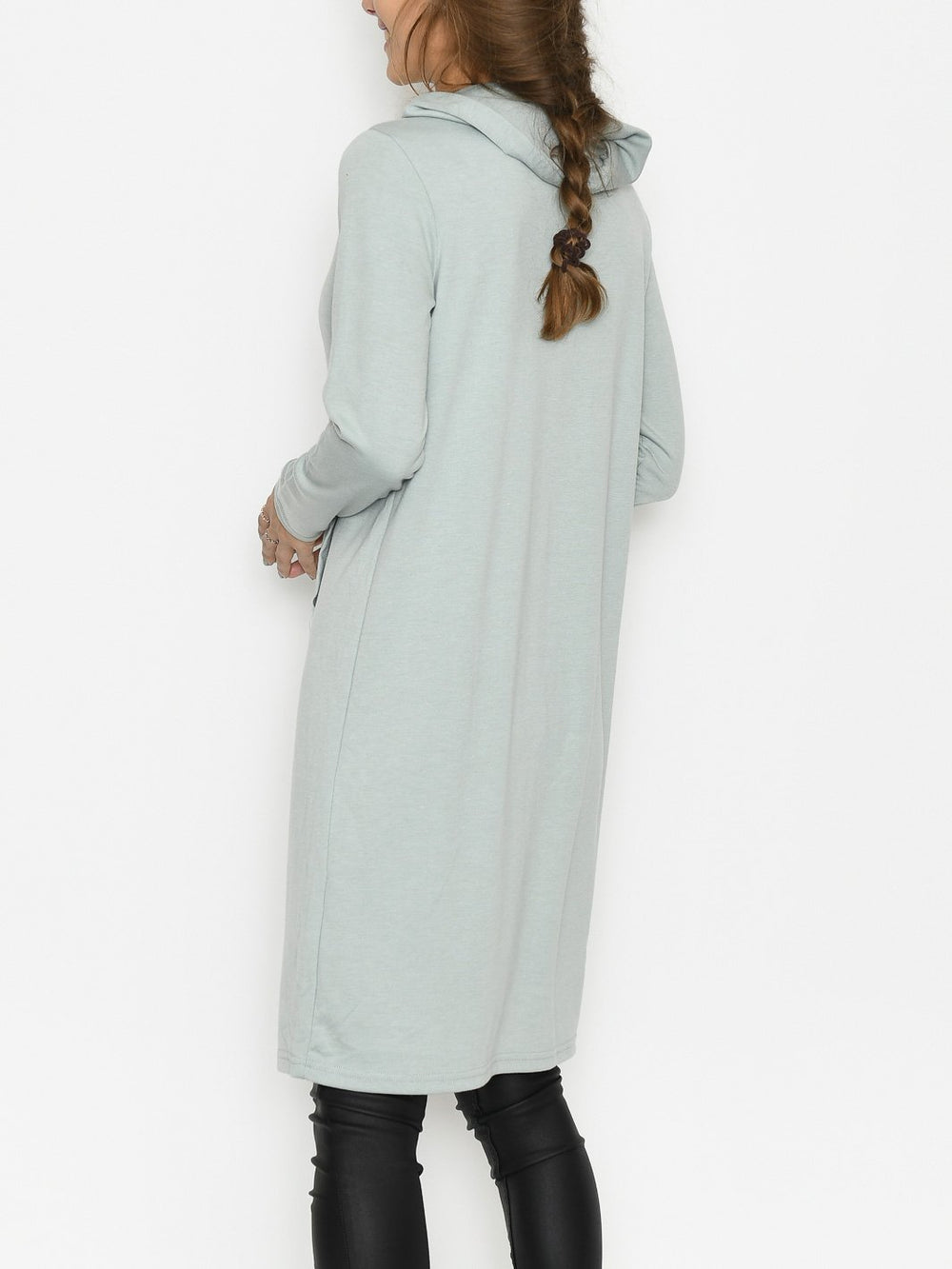 B.Young BYrizi hood dress 2 iceberg green melange - Online-Mode