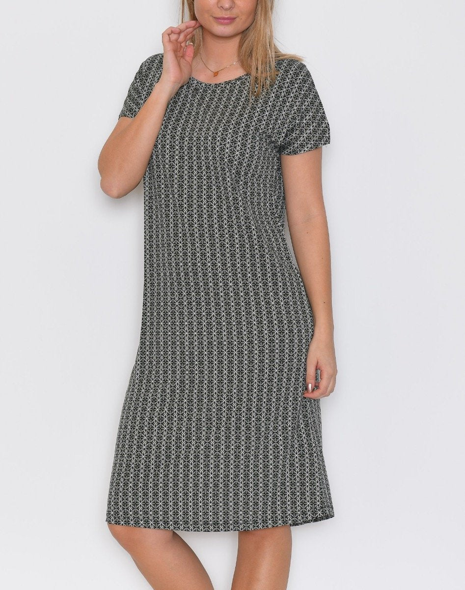 B.young BYRosana dress 3 cedar green combi 1 - Online-Mode