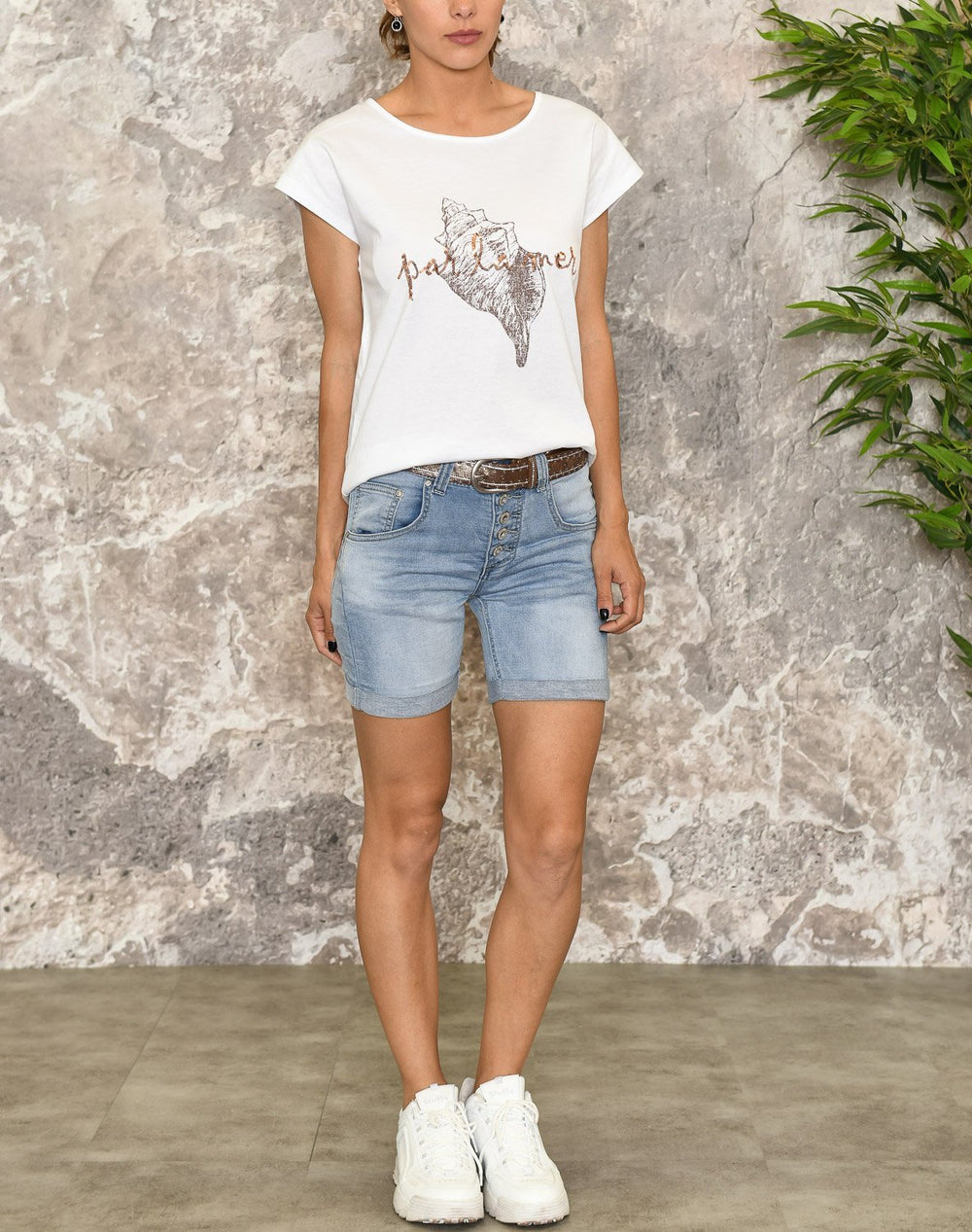 B.young BYsamia shell t-shirt optical white - Online-Mode