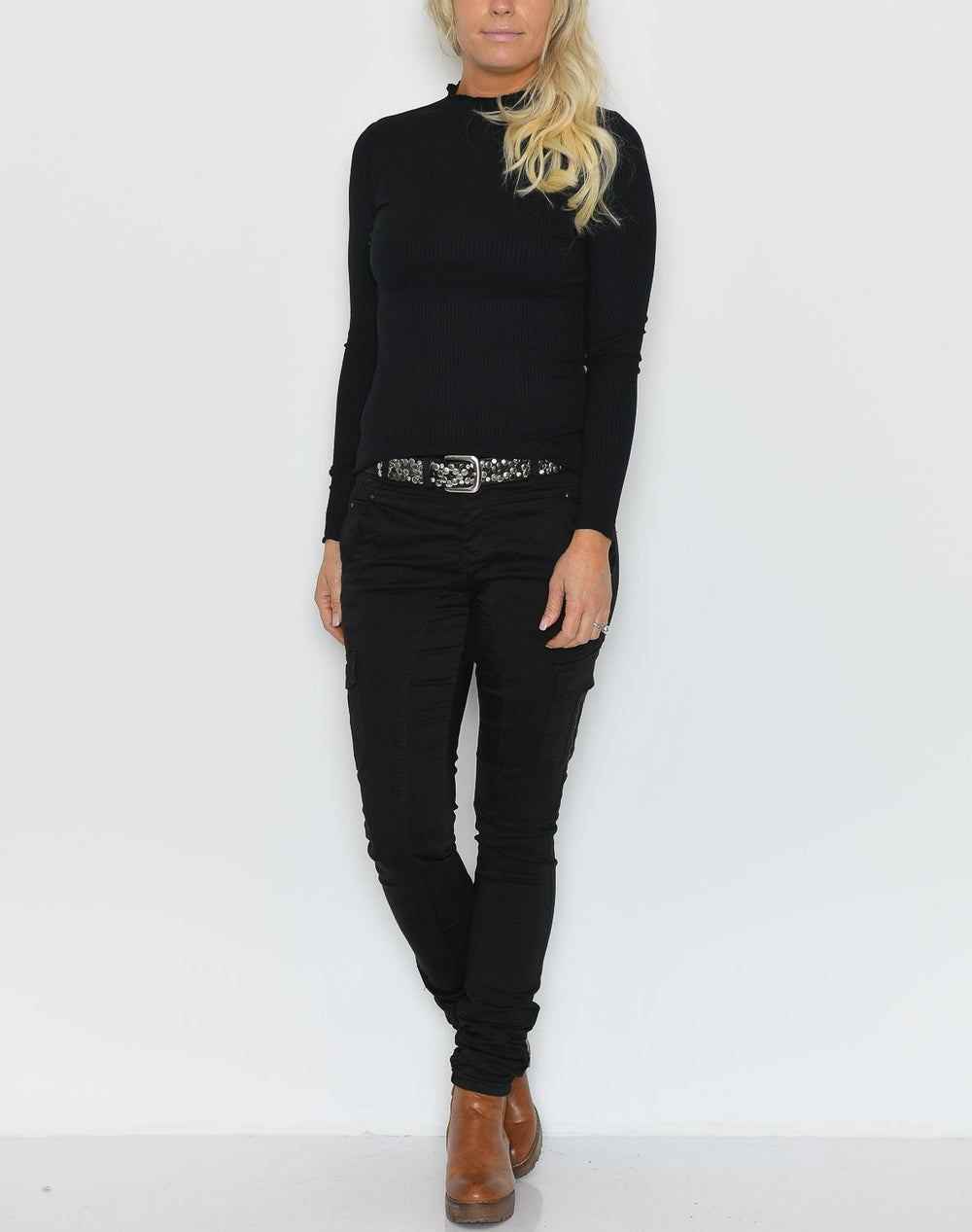 B.young BYSilise high neck bluse black - Online-Mode