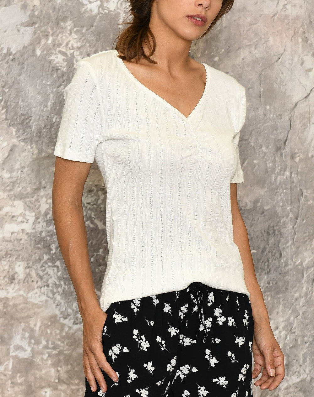 B.young BYsilla bluse off white - Online-Mode
