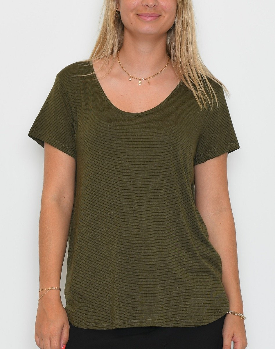 B.young BYSovea t-shirt olive night - Online-Mode