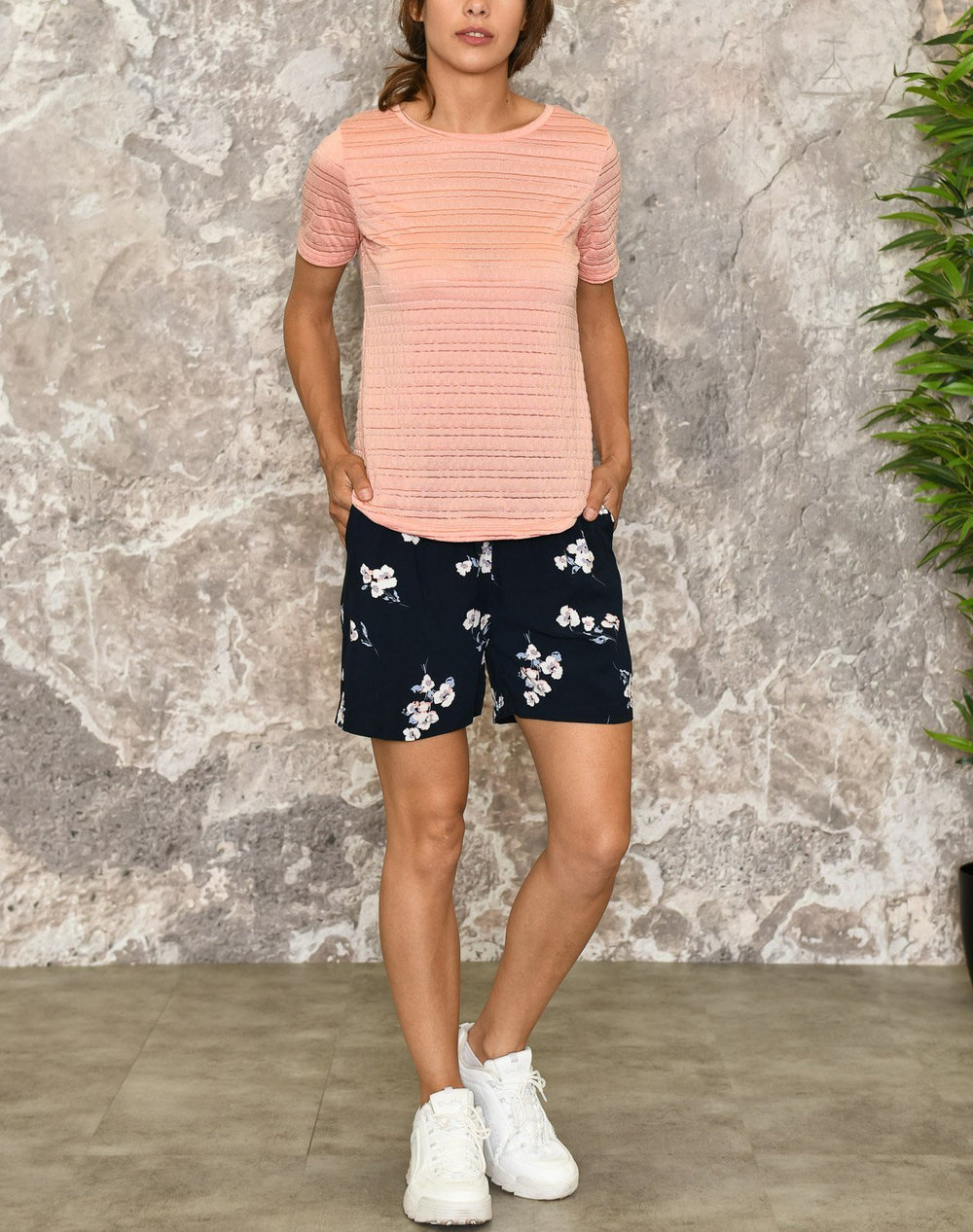 B.young BYstuma t-shirt coral - Online-Mode