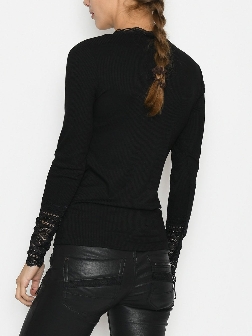 B.Young BYtoella lace oneck 2 blouse black - Online-Mode