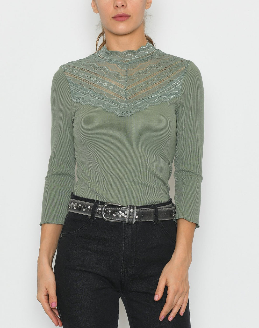 B.young BYtoella lace t-shirt 2 sea green - Online-Mode