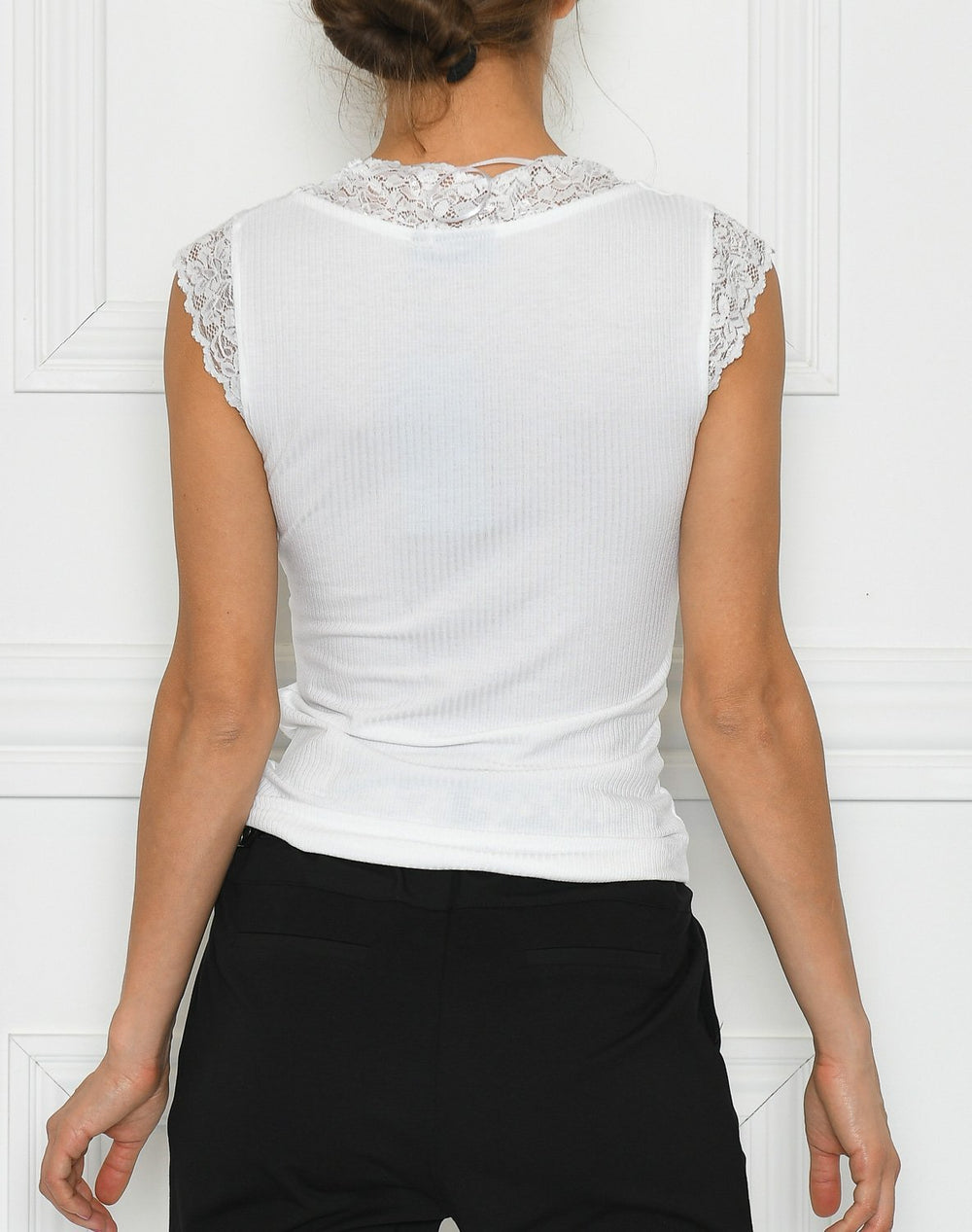 B.young BYtoella lace top optical white - Online-Mode