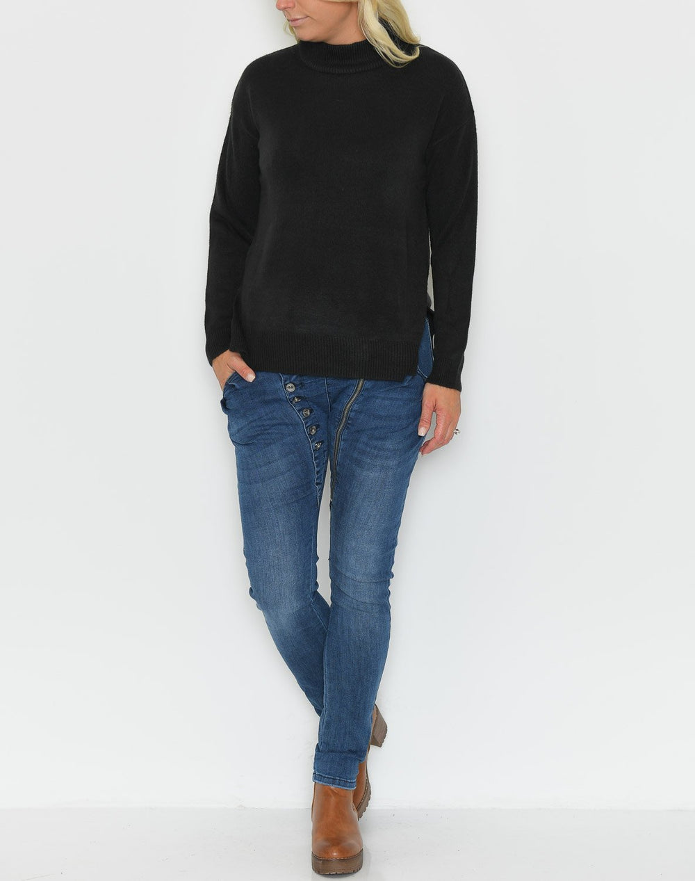B.young Malea pullover 3 black - Online-Mode