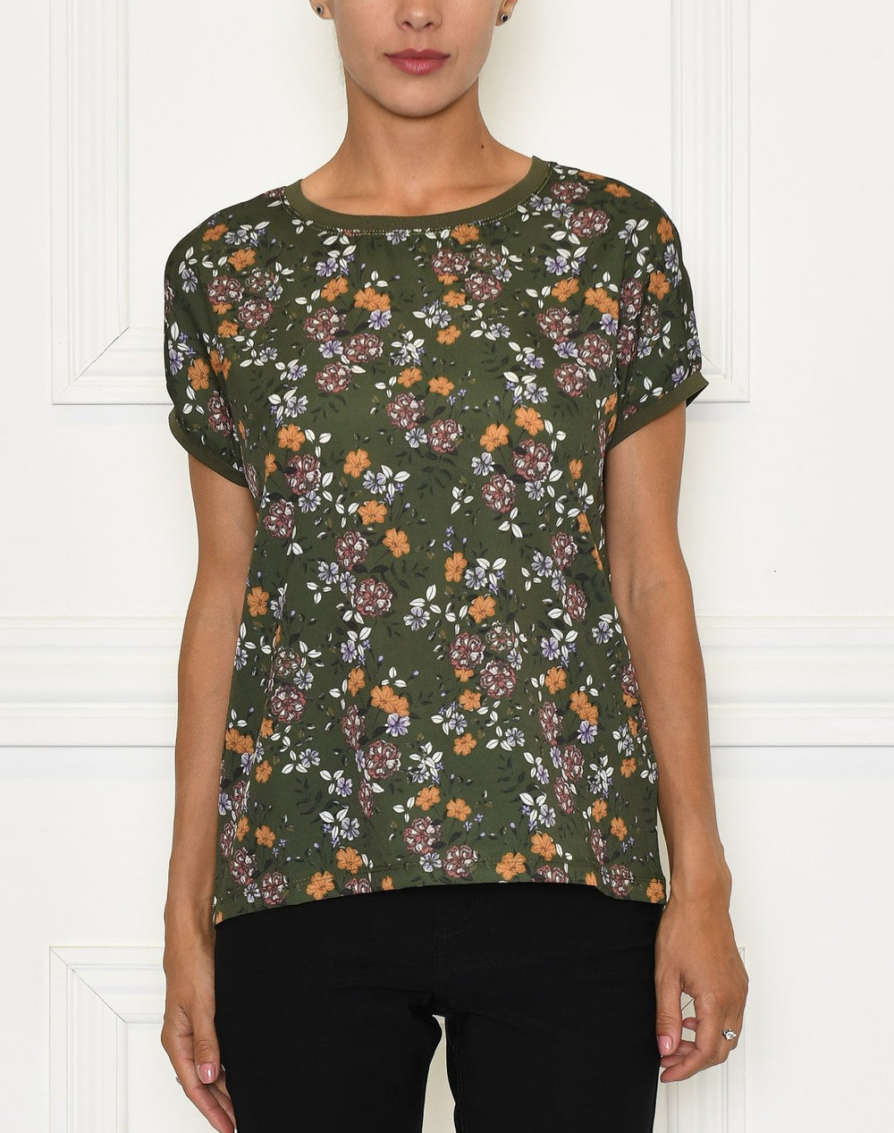 B.Young Panya t-shirt flower olive night flower - Online-Mode
