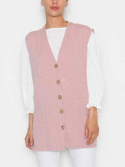Caroline knit vest rose - Online-Mode