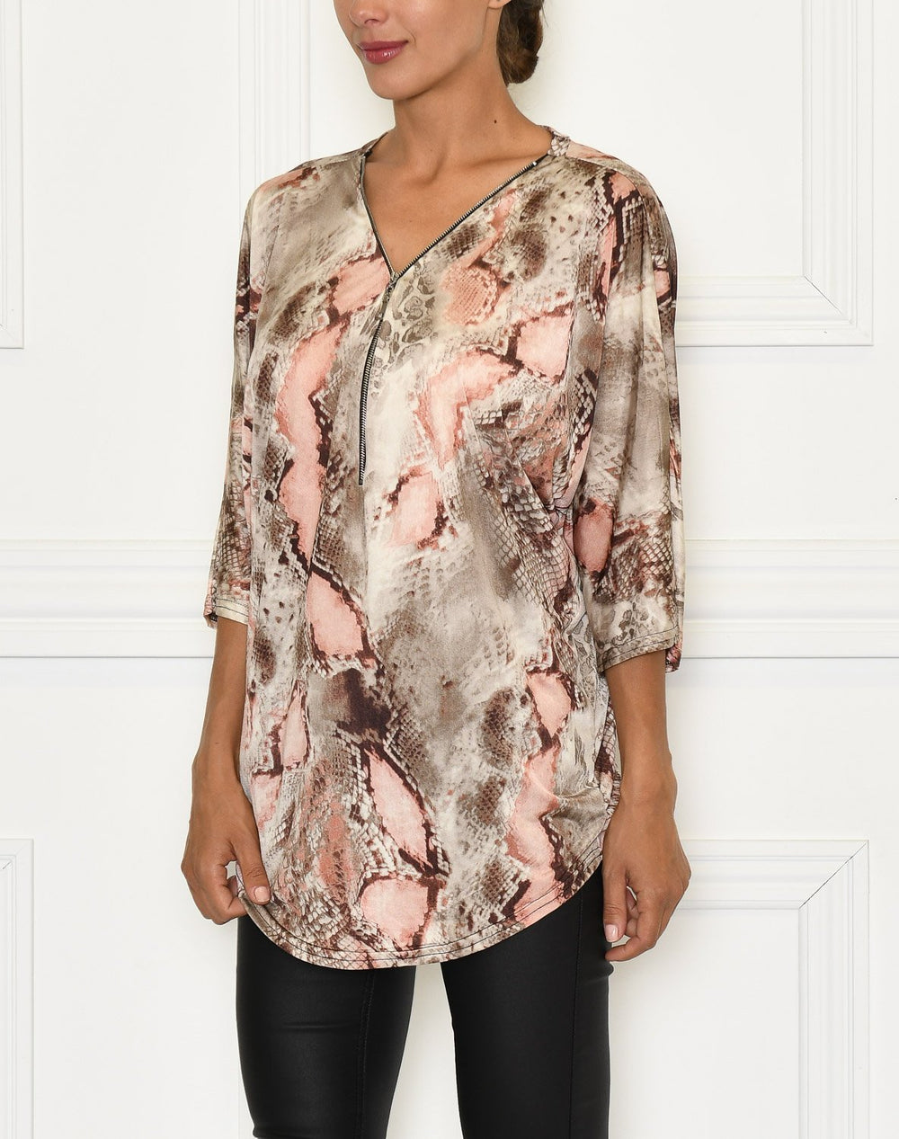 Catalina top zip pink snake - Online-Mode