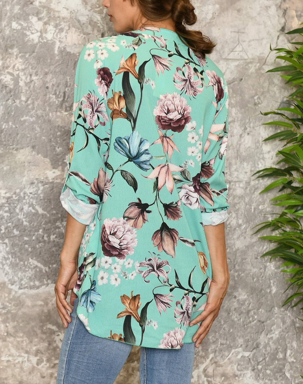 Claire tunic ocean green - Online-Mode