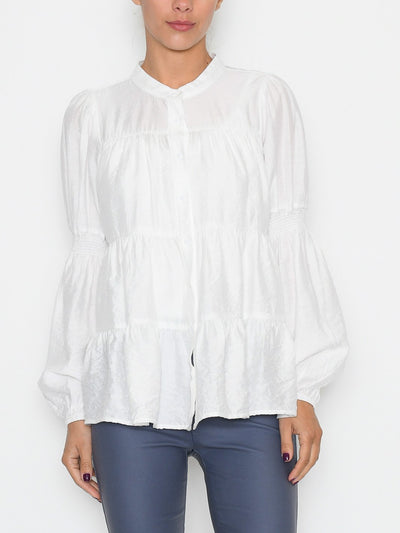 Continue Sanna solid blouse white - Online-Mode