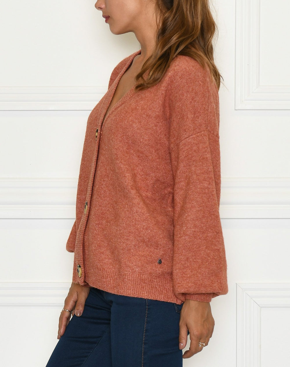 Cream AnghaCR knit cardigan RP etruscan red melange - Online-Mode