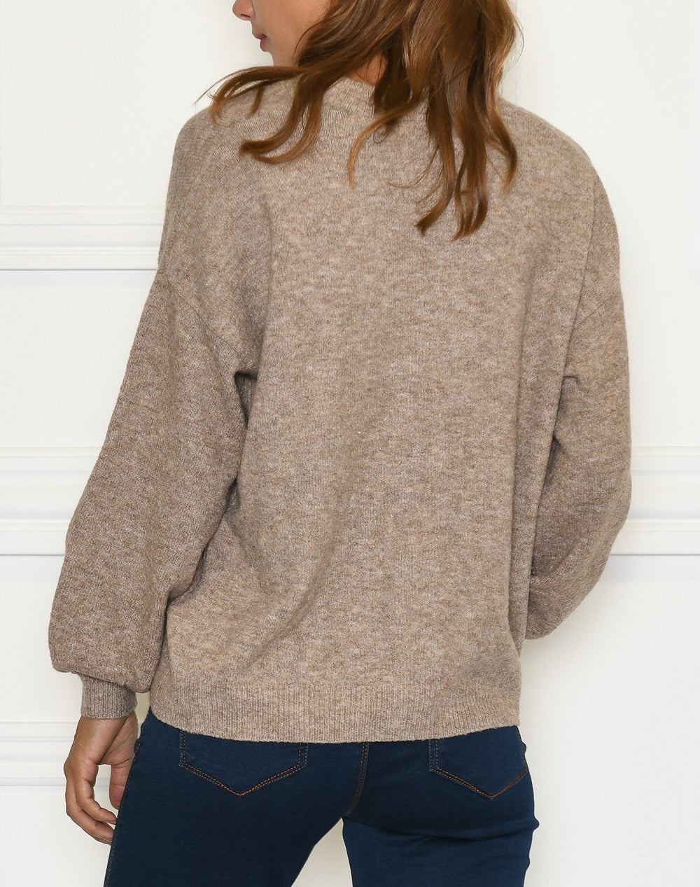 Cream AnghaCR knit cardigan RP taupe gray melange - Online-Mode