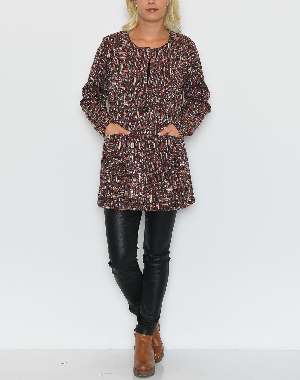 Cream AstridCR jacket merlot red - Online-Mode