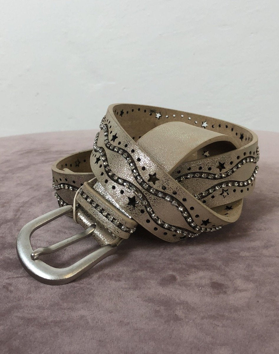 Cream Josy belt dull gold - Online-Mode