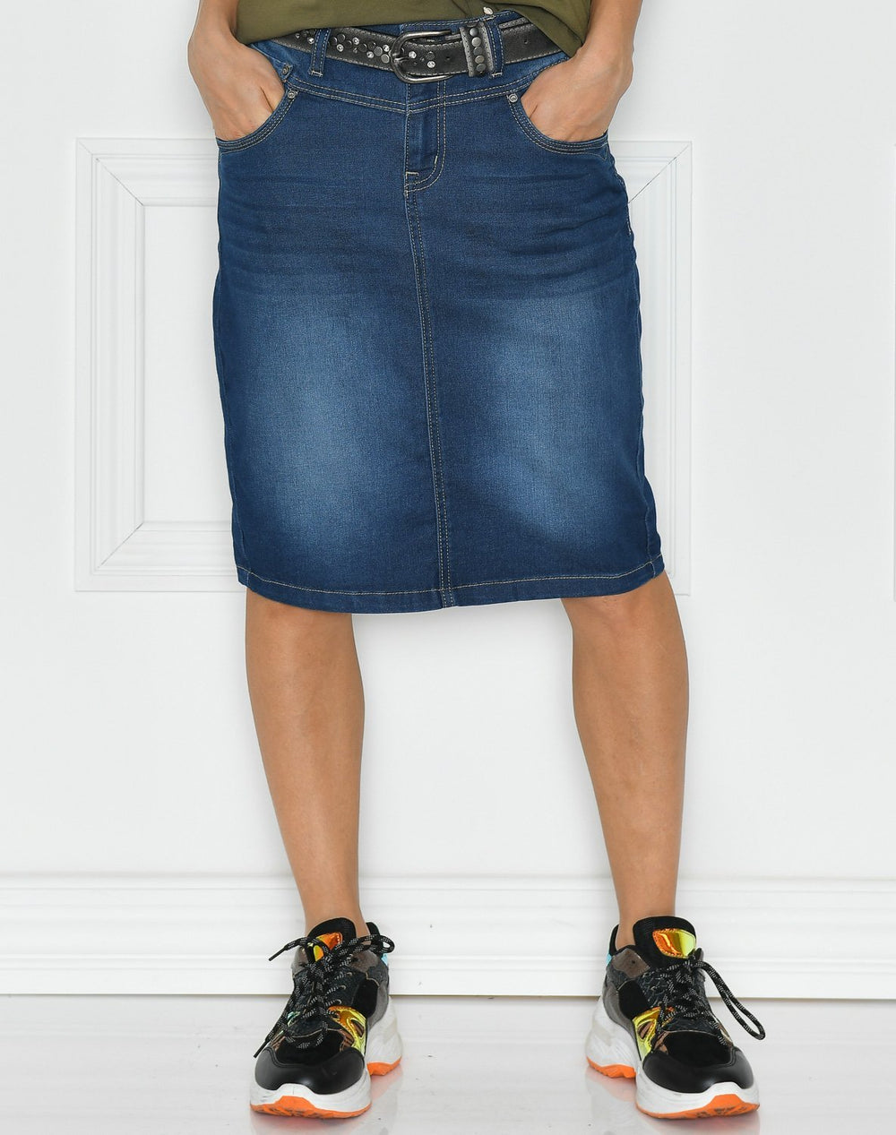 Cream KammaCR denim skirt denim blue - Online-Mode