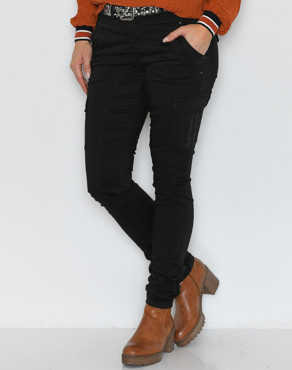 Cream LinaCR pants pitch black - Online-Mode