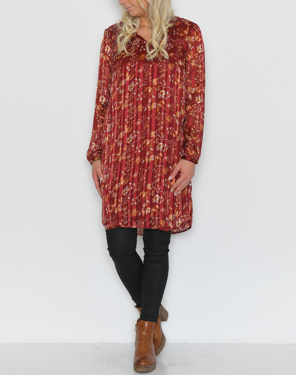 Cream Nila dress merlot red - Online-Mode