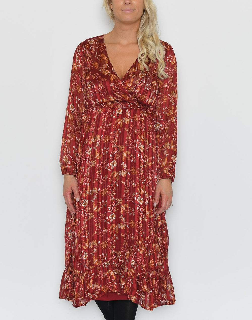 Cream Nila wrap dress merlot red - Online-Mode