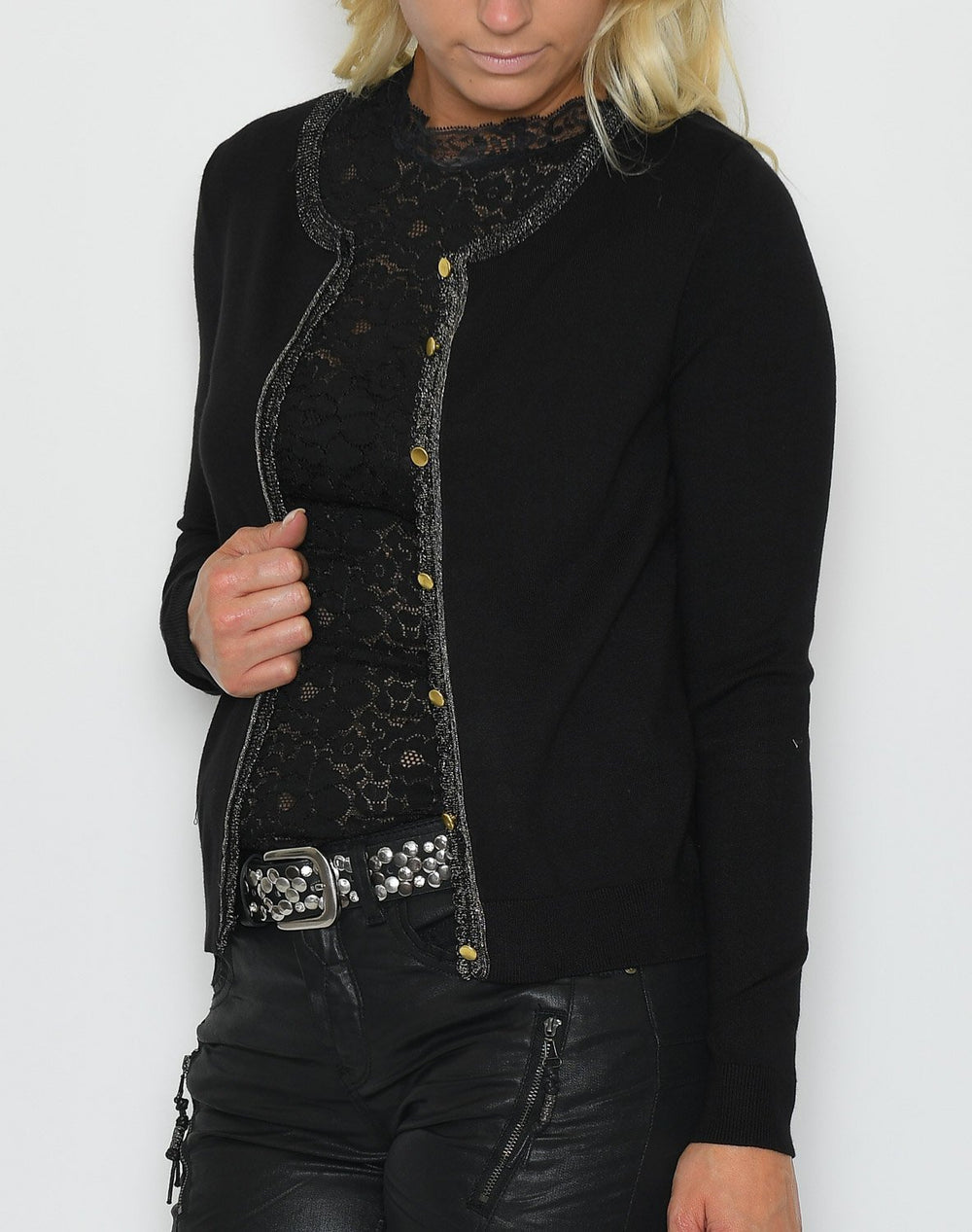 Cream Tammy cardigan pitch black - Online-Mode