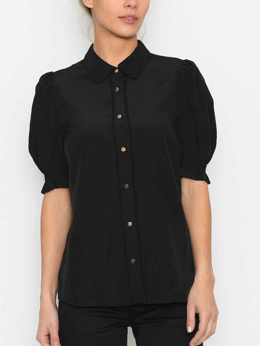 Culture CUasmine SS blouse black - Online-Mode