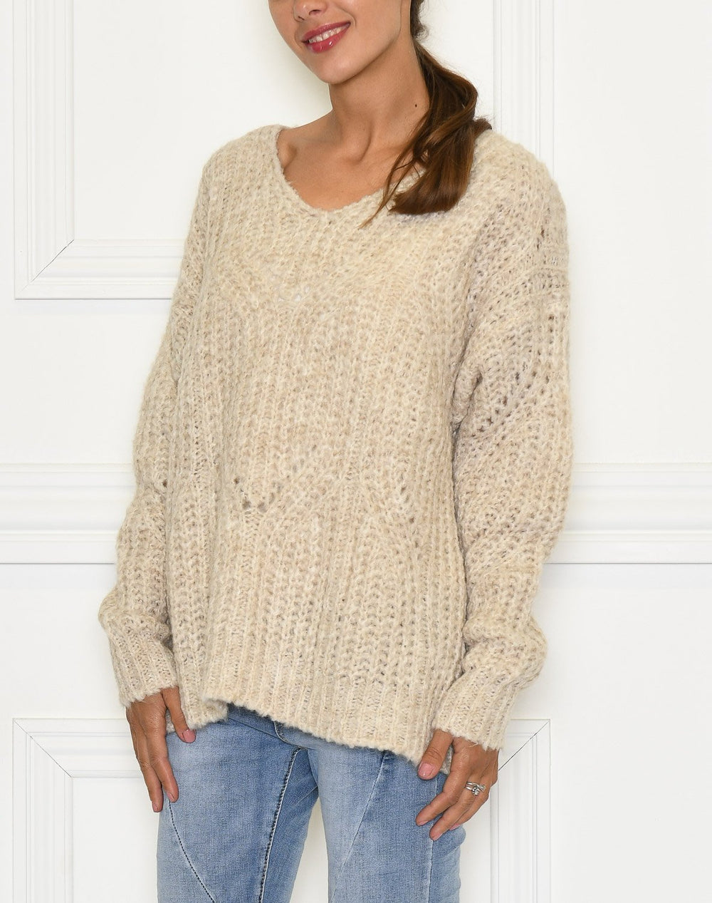 Culture CUbojanna Pullover Irish cream - Online-Mode