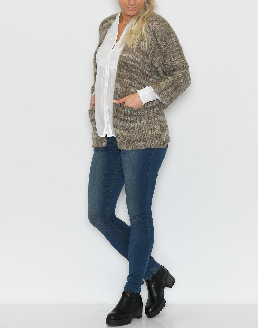 Culture CUdanina cardigan dune mix - Online-Mode