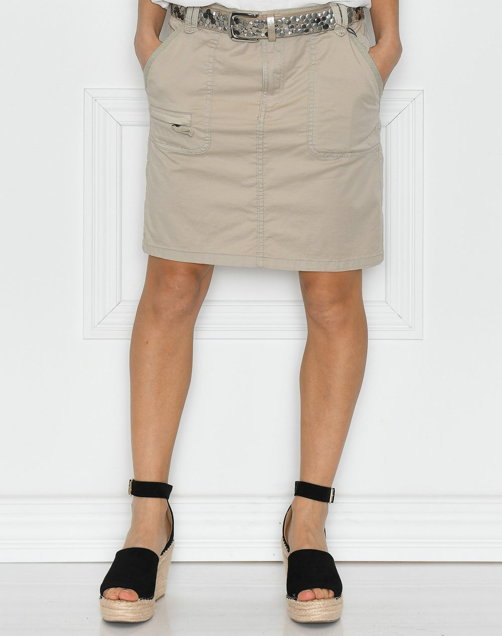 Culture CUlinnet skirt feather grey - Online-Mode