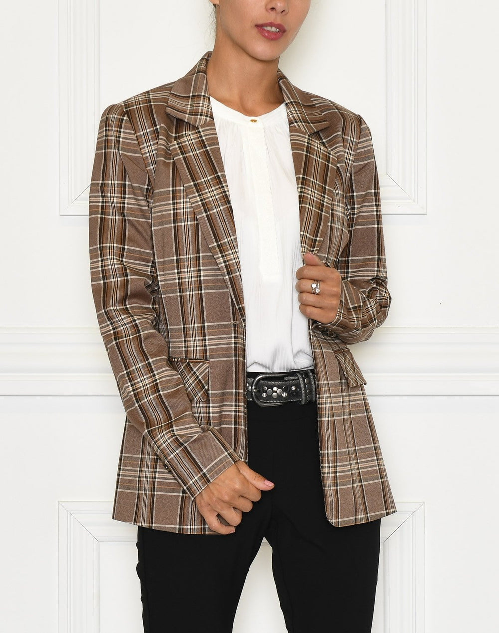 Culture CUmandy blazer brown check - Online-Mode